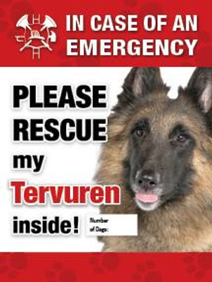 Tervuren Pet Safety Alert