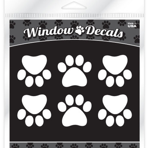 Paws •White vinyl sticker decals