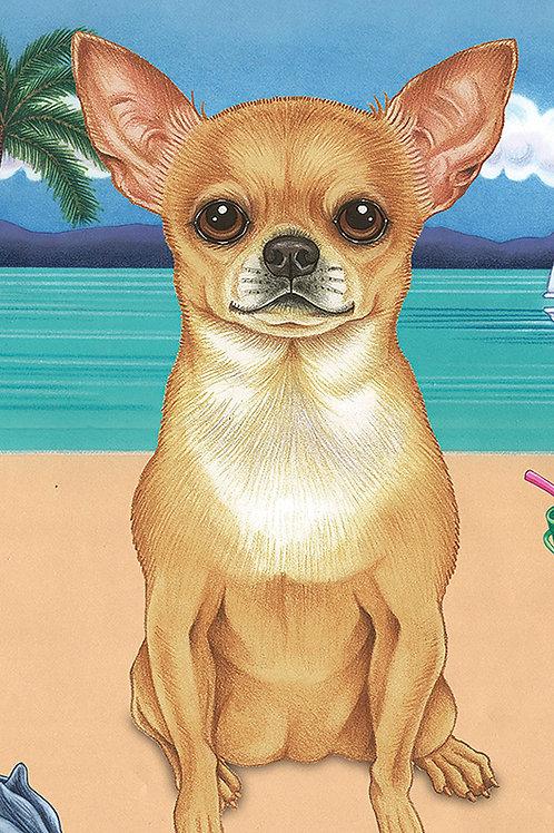 Chihuahua -Terry Velour Microfiber Beach Towel