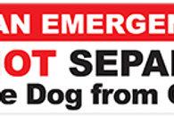 Emergency Service Dog Magnet