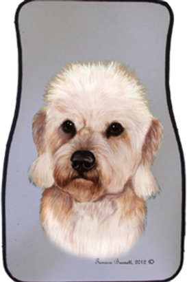 Dandi Dimmont Mustard Terrier Best of Breed Car Mats (set of 2)