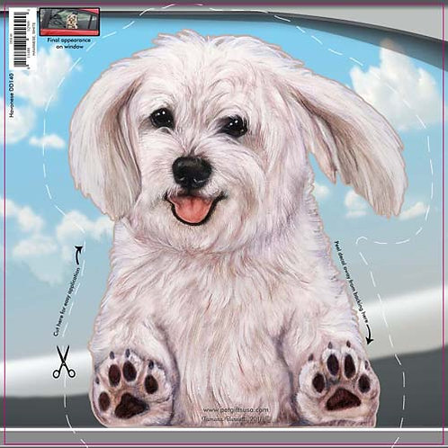 Havanese (White) - Dogs On The Move Window Decal