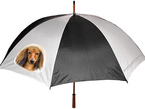 Red Longhaired Dachshund Umbrella