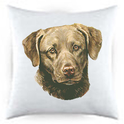 Chesapeake Bay Retriever Dog Portrait Satin Throw Pillow