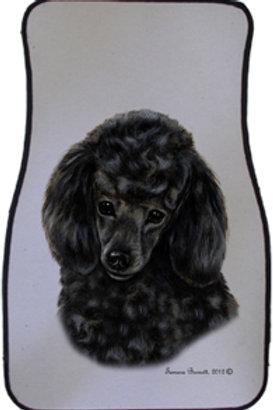 Black Poodle Best of Breed Car Mats (set of 2)