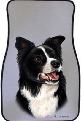 Border Collie Best of Breed Car Mat (set of 2)