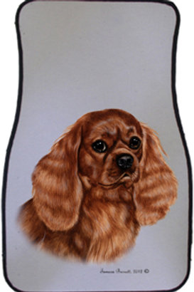 Ruby Cavalier King Charles Best of Breed Car Mats (set of 2)