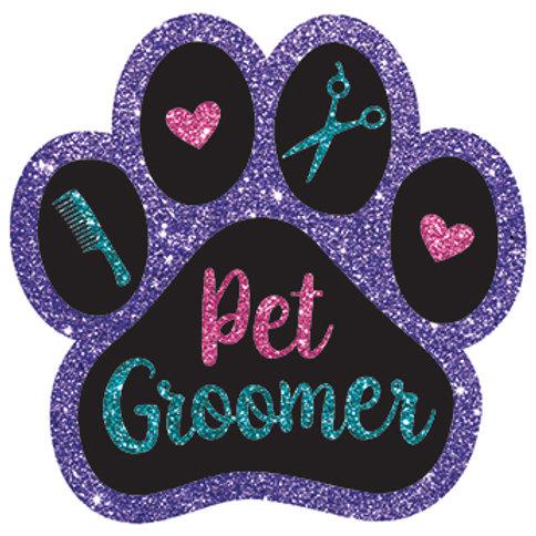 Pet Groomer Glitter Magnet