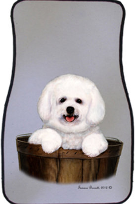 Bichon Frisé in Basket Best of Breed Car Mats (set of 2)