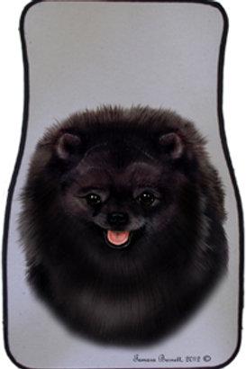 Black Pomeranian Best of Breed Car Mats (set of 2)