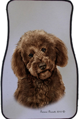Chocolate Labradoodle Best of Breed Car Mats (set of 2)