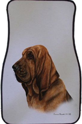Bloodhound Best of Breed Car Mat (set of 2)