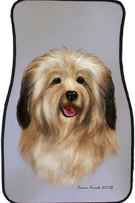 Cream Havanese Best of Breed Car Mats (set of 2)