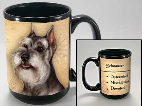 Schnauzer cropped - My Faithful Friend Mug