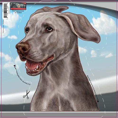 Weimaraner - Dogs On The Move Window Decal