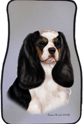 Tricolor Cavalier King Charles Best of Breed Car Mats (set of 2)