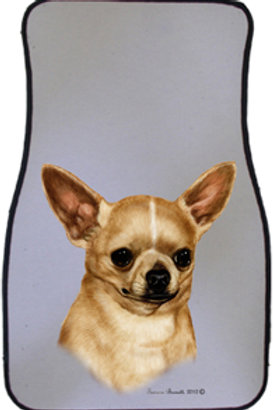 Tan Chihuahua Best of Breed Car Mats (set of 2)