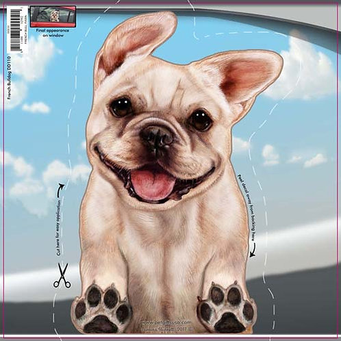 French Bulldog - Dogs On The Move Window Decal