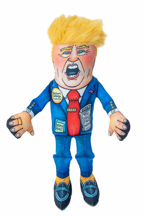 "Special Edition Donald Small Dog Toy - 12"" Presidential Parody"