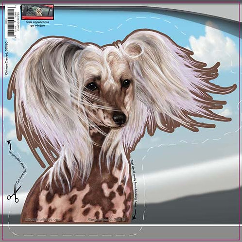 Chinese Crested - Dogs On The Move Window Decal