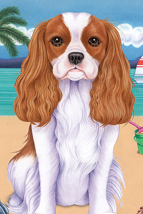 Cavalier King Charles -Terry Velour Microfiber Beach Towel