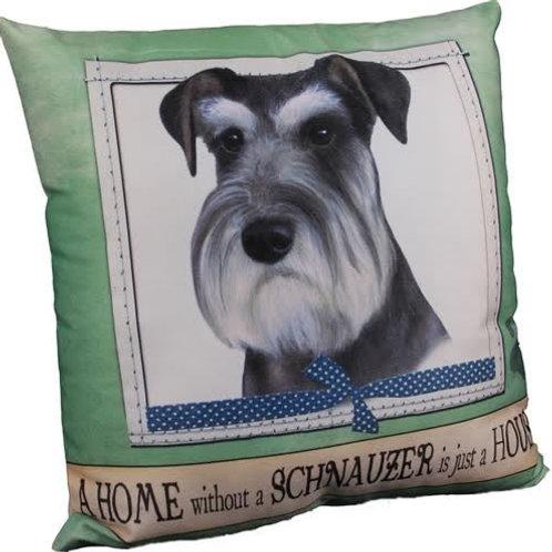 Schnauzer (uncropped) Super Soft Pet Pillow