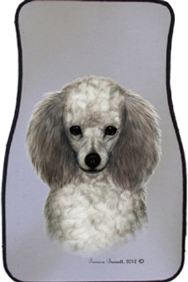 Silver Poodle Best of Breed Car Mats (set of 2)