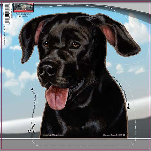 Black Lab - Dogs On The Move Window Decal