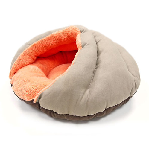 Solid Brown Burger Bed