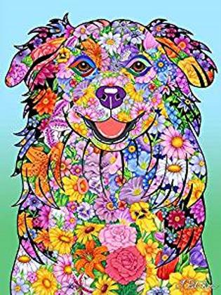 Australian Shepherd - Flowers Design Garden Flag