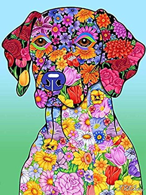 German Shorthair Pointer -Flowers Design Garden Flag