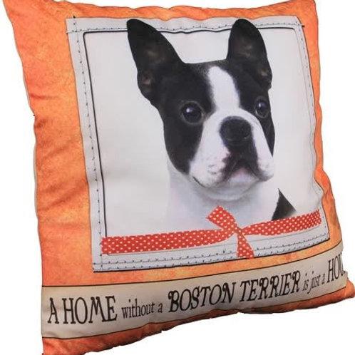 Boston Terrier Super Soft Pillow