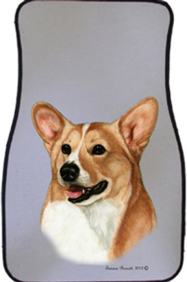 Fawn  Pembroke Welsh Corgi Best of Breed Car Mats (set of 2)