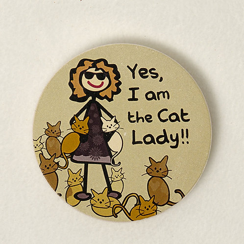 Cat Lady Car Coaster