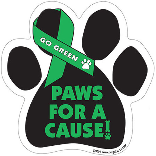 Paws For A Cause - GO GREEN Magnet