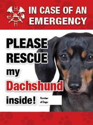 Dachshund Safety Pet Decal