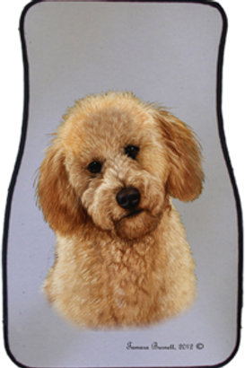 Red Labradoodle Best of Breed Car Mats (set of 2)