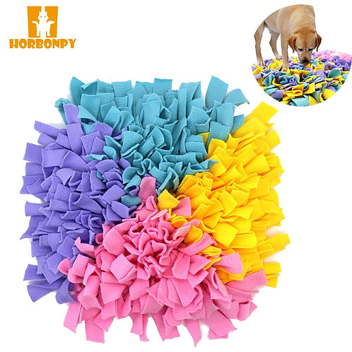 HORBONPY Pet Dog Sniffing Mat /Training Blanket Play Puzzle Sniffing Mat Pad