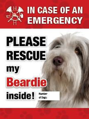 Beardie Pet Safety Decal