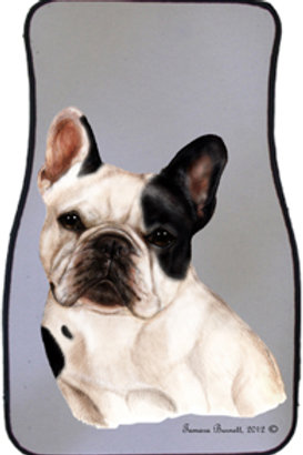 Pied French Bulldog Best of Breed Car Mats (set of 2)