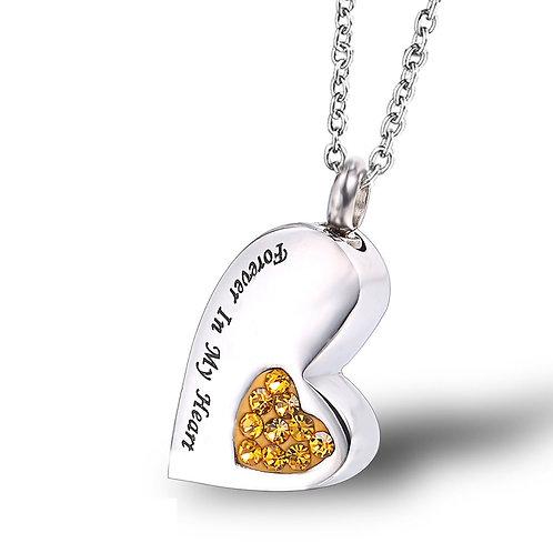 Heart Shaped Memorial Pet Urn Necklace Pendant Keepsake  Memorial