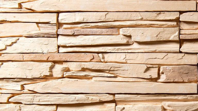 """Искусственный камень """"Сланец"""" песочный 0,85 м2"""