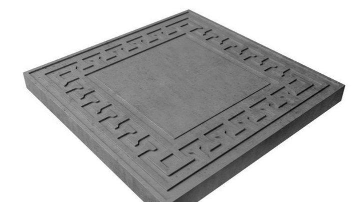 "Тротуарная плитка ""Готика"" 300х300х30 цв. серый"