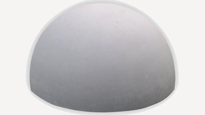Бетонная полусфера 250х500 серая