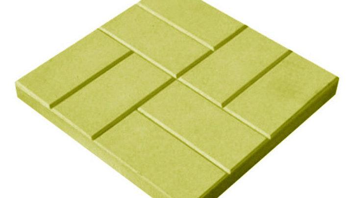 """Тротуарная плитка """"Восемь кирпичей"""" 300х300х30 цв. желтый"""