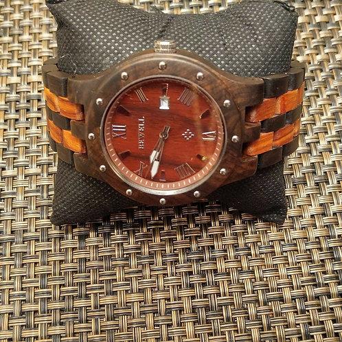 Men's Wood Two Tone Watch