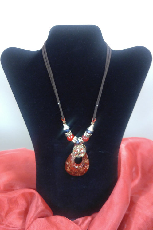 Red & Black Statement Necklace