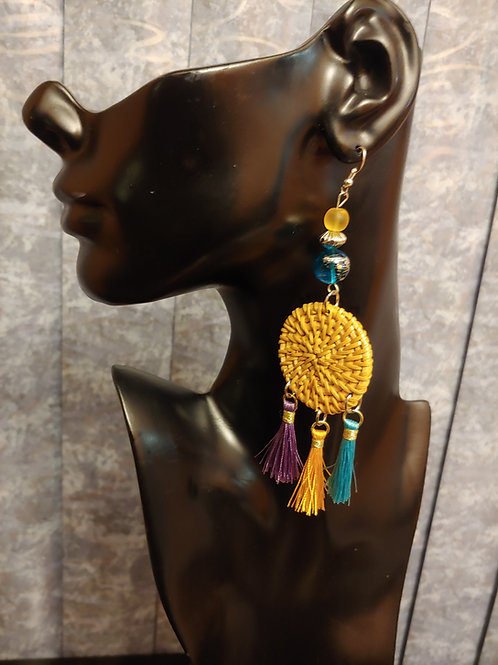 """Caribbean""  Bamboo Earrings"