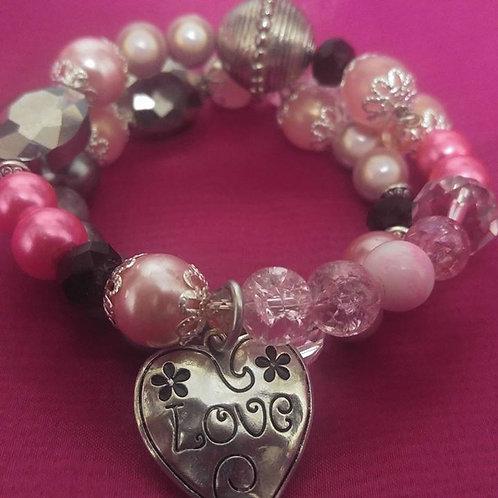 Bubble Gum Pink Love Bracelet