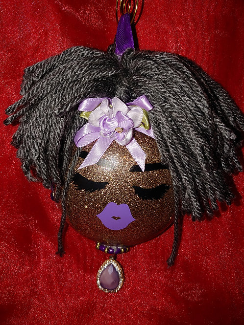 Grey Haired & Dolled Up Ornament